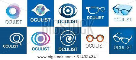 Vector Logo Optometrist, Optics And Vision Check