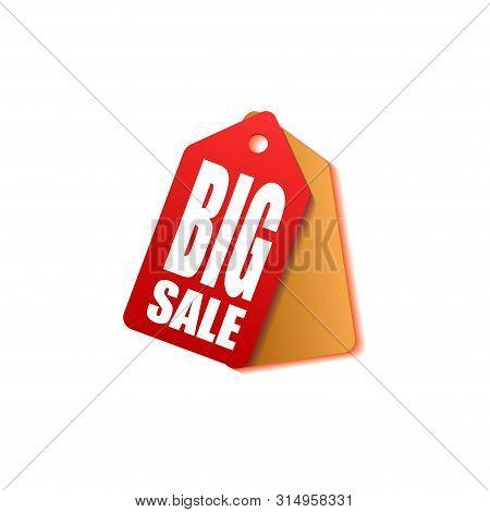 Sale Price Tag Vector Badge Template, Sale Label Symbol, Clearance Sale Sticker Emblem,tag Sale Red