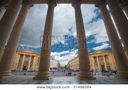 Paris Pantheon Columns Looking Out