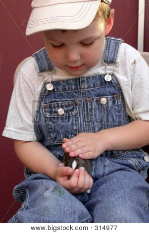Boy And Baby Bunny