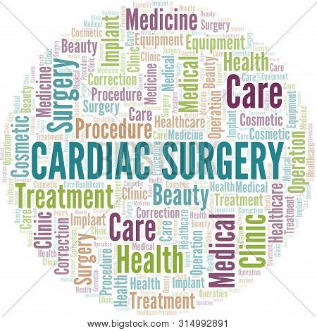 Cardiac Surgery Word Cloud Vector Made With Text Only