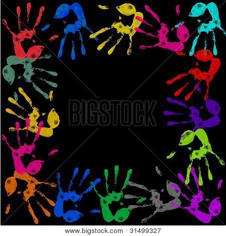 Painted Handprints