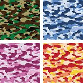 vector colorful camouflage patterns for all seasons poster