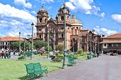 The Plaza de Armas (Plaza of Arms) is the name for the main square in many Latin American cities. In Mexico this space is known as El Zócalo, and in Central America as Parque Central (Central Park). While some large cities have both a Plaza de Armas. poster