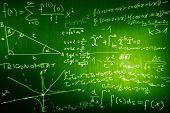 Science Mathematics Physics Illustration Formulas Schemes / poster