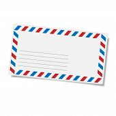 Blank mailing envelope. Vector isolated eps10 illustration. poster