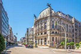 Vigo,spain - May 14,2019 - View At The Principal Theater Of Vigo In Spain. Vigo Is The Capital Of Th