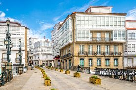 Betanzos,spain - May 15,2019 - In The Streets Of Betanzos. Betanzos Is A Municipality In The Autonom