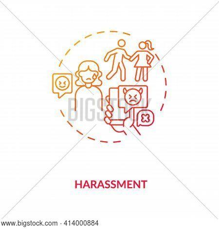 Harassments On Daing Website Concept Icon. Internet App Aggression Ideas Thin Line Illustration. Sen