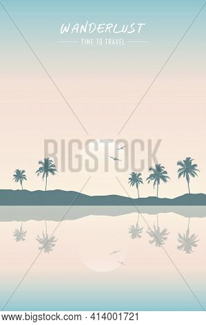 Wanderlust Paradise Tropical Beach Summer Holiday Background