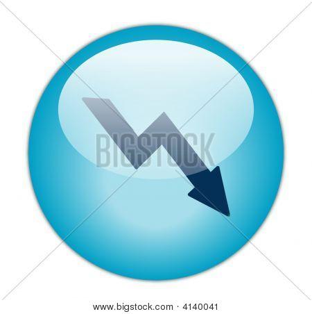 The Glassy Aqua Blue Loss Icon Button