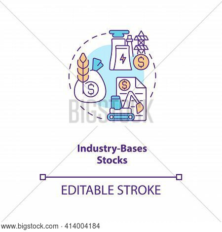 Industry-based Stocks Concept Icon. Stock Type Idea Thin Line Illustration. Company Sectors. Industr