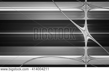 Abstract Background In Geometric Style In The Form Of Bright And Dark Stripes And Lines. Black And W