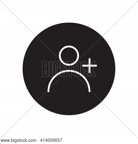 Add Contact Icon Vector. Adding User Image