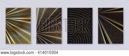 Art Business Card. Abstract Lines Modern Brochure