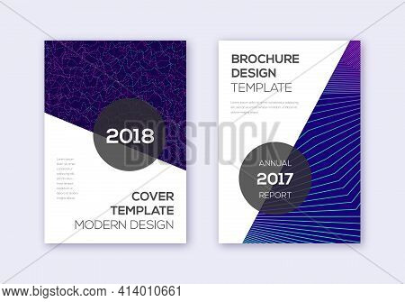 Modern Cover Design Template Set. Neon Abstract Li