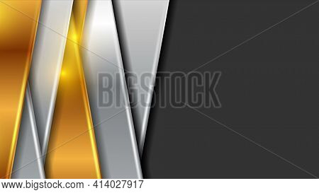 Golden and grey shiny abstract background