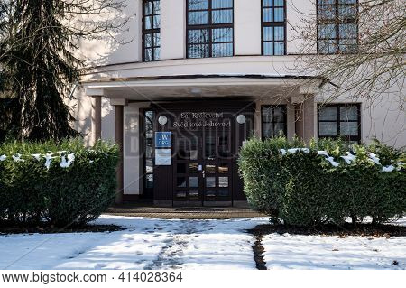 Ostrava, Czech Republic - January 20, 2021: The Building Called Hall Of The Kingdom Of Jehovah Witne