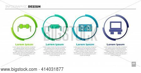 Set Resistor Electricity, Resistor Electricity, Electrical Outlet And Fuse. Business Infographic Tem