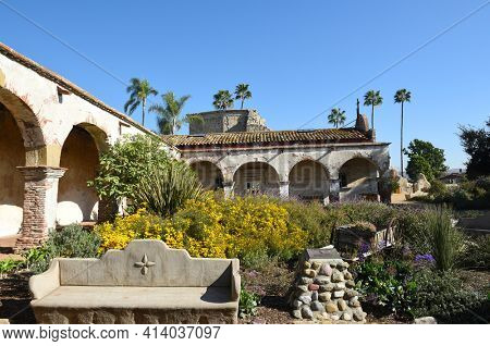 San Juan Capistrano, Ca - December 1, 2017: Mission San Juan Capistrano. The jewel of the Missions was founded in 1776.