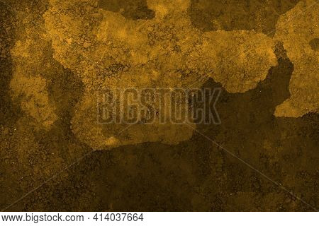 Brown Colored Abstract Wall Background With Textures Of Different Shades Of Brown. Brown Cement Text
