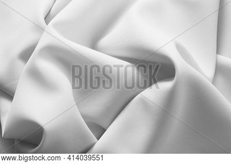 White Fabric Texture.abstract Cotton Background. Smooth Elegant White Textile. White Color Is Symbol