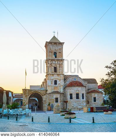 Saint Lazarus Church In Larnaka At Sunset. Cyprus