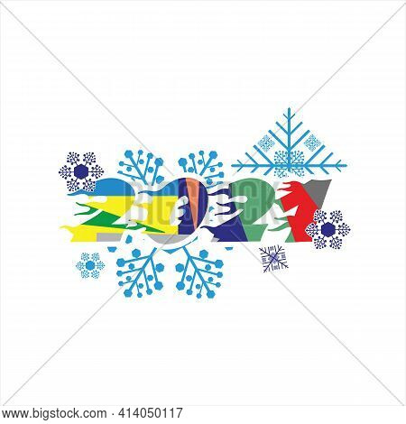 New Year 2021, Happy New Year Vector 2021, Number 2021 In Modern Concept, Text 2021, Number 2021 Ful