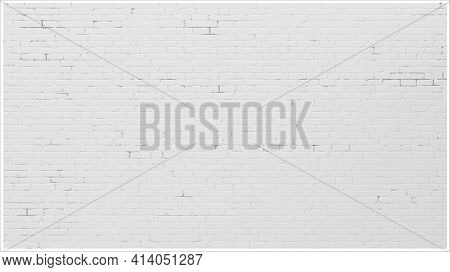 Background Wall Old White Brick Painted Brick