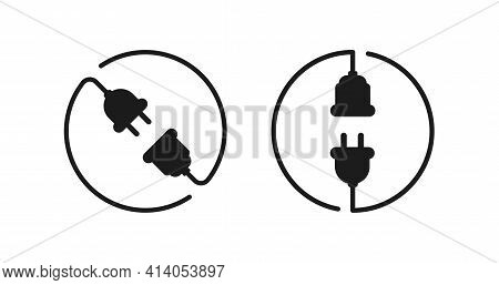 Isolated Plug Icon Electric Connection Sign Vector Design.