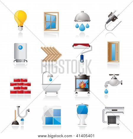 Construction and home renovation icons