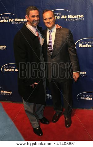 NEW YORK-JAN 24: Former MLB players Jorge Posada and Joe Torre attend the 10th Anniversary Joe Torre Safe At Home Foundation Gala at Pier 60, Chelsea Piers on January 24, 2013 in New York City.
