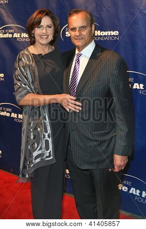 NEW YORK-AUG 14: Ali and Joe Torre attend the 10th Anniversary Joe Torre Safe At Home® Foundation Gala at Pier 60, Chelsea Piers on January 24, 2013 in New York City.
