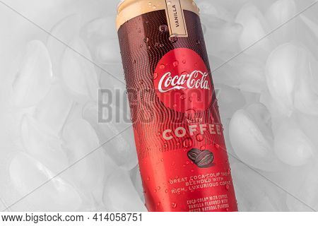 A New Flavor Of The Classic Soda Beverage. A Soft Drink Mixed With Vanilla And Coffee Flavor. This C