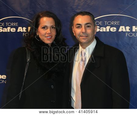 NEW YORK-AUG 14: Former MLB player John Franco and wife Rose attend the 10th Anniversary Joe Torre Safe At Home® Foundation Gala at Pier 60, Chelsea Piers on January 24, 2013 in New York City.