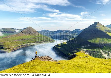 Majestic views over the fjords of Funningur