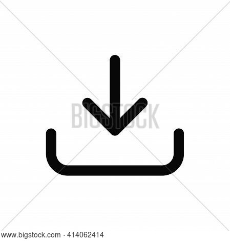 Download Icon Isolated On White Background. Download Icon In Trendy Design Style. Download Vector Ic