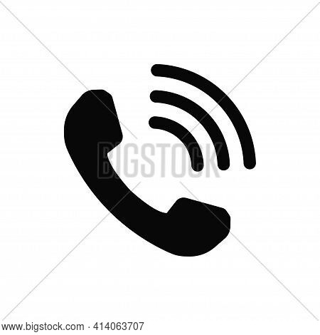 Phone Call Icon Isolated On White Background. Phone Call Icon In Trendy Design Style. Phone Call Vec