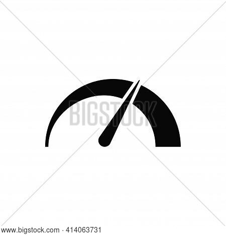 Speedometer Icon Isolated On White Background. Speedometer Icon In Trendy Design Style. Speedometer