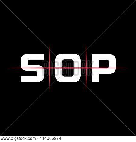 Sop Initial Letter Logo Design. Creative Minimal Monochrome Monogram Symbol. Premium Business Logoty