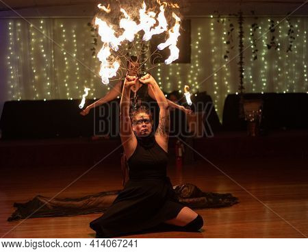Detroit, Michigan - Usa- March 20, 2021: Ostara 2021 Spring Festival Of The Witch