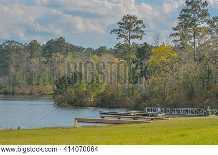 The Beautiful View Of Okhissa Lake In Homochitto National Forest, Bude, Franklin County, Mississippi