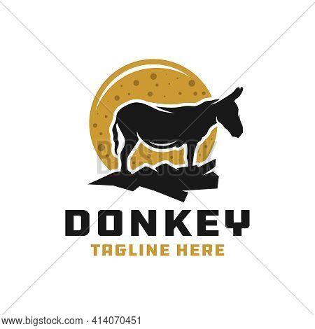 Animal Donkey Modern Logo Design Your Company