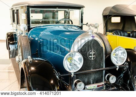 Moscow. Russia. February 2020. Exhibition Of Retro Cars. Old Lorraine-dietrich B36 Car From 1928