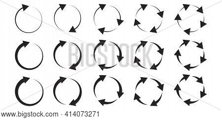Circles Arrows, Great Design For Any Purposes. Abstract Button. Vector Illustration Design. Stock Im