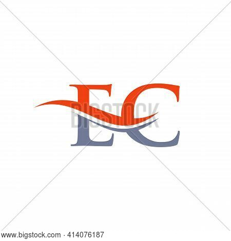 Ec Linked Logo For Business And Company Identity. Creative Letter Ec Logo Vector