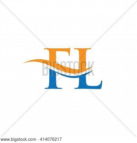 Monogram Letter Fl Logo Design Vector. Fl Letter Logo Design With Modern Trendy