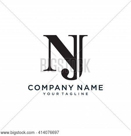 Alphabet Letters Initials Monogram Logo Nj.illustration Vector