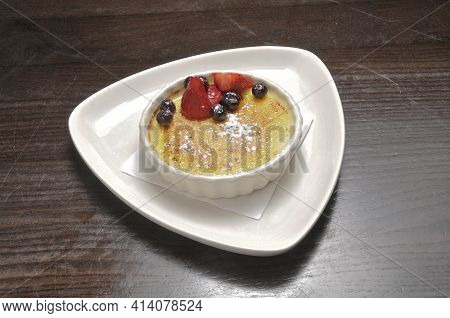 Delicious Authentic Dessert Dish Known As Creme Brulee