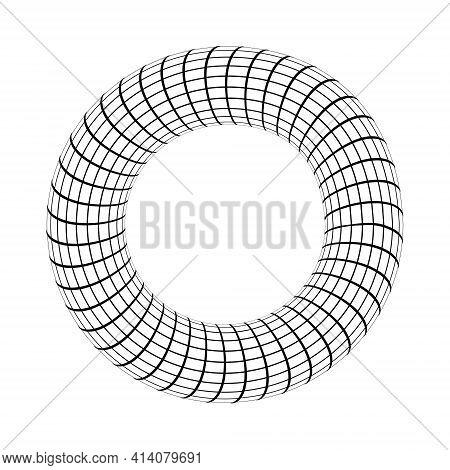 Torus Toroid Geometric Shape In The Shape Of A Donut Vector 3d Donut Torus Toroid